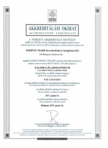 Szerviz-Trade Akkreditálási okirat 2013